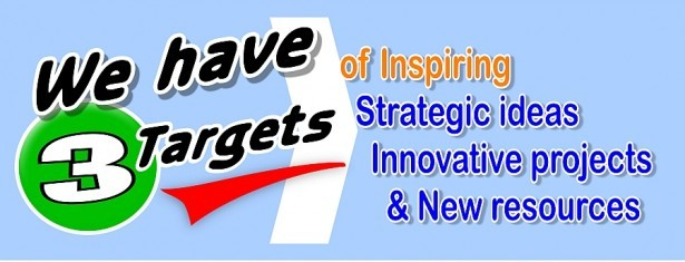 to inspire ideas, innovate projects, create new resources