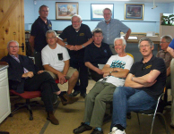 Railway group meet fellow modeller Pete Waterman