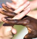 Hands interlinked