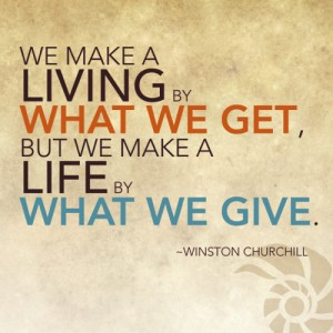 Living and giving churchill-quote